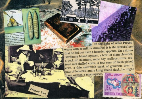 """""""Chapter Two"""" 1994 (mixed media collage on paper, 5 x 7"""")"""