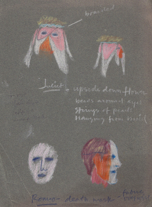 "Mask design for ""Romeo and Juliet"" 1986"