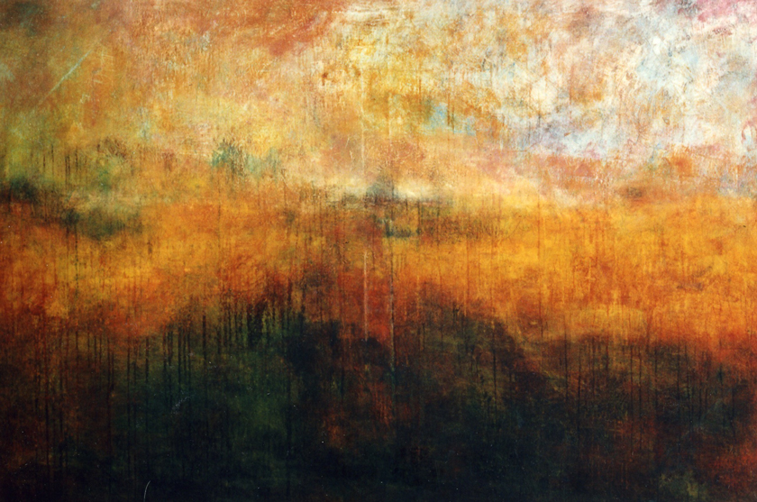 """October Plain"" 1990 (oil on canvas, 48 x 72"") Private collection."