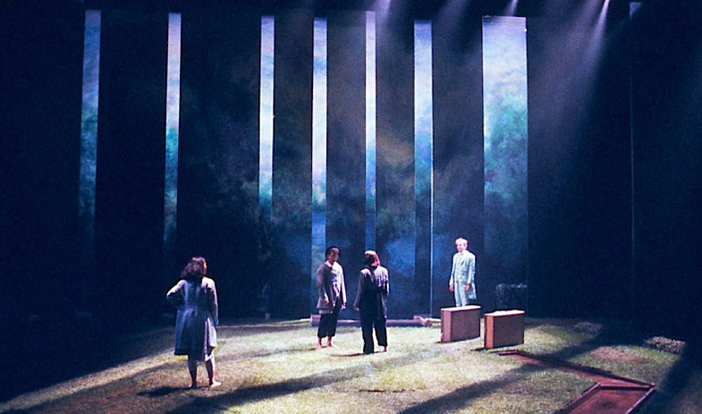 "Set and prop design for ""The Triumph of Love"" 1993"