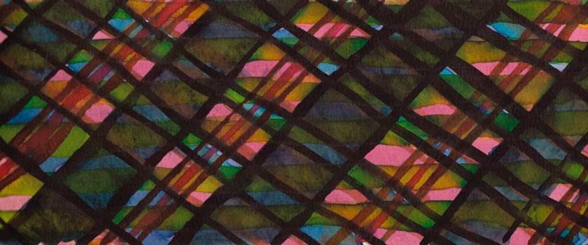 """Tartan Sketch 8"" 2012 (ink on paper, 3.5x8.25"")"