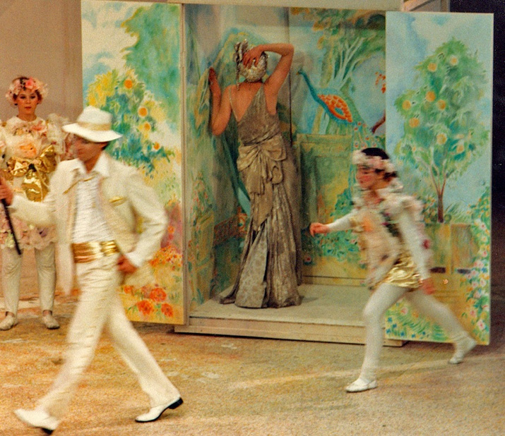 """Painting design for sets of Moliere's """"The Bourgeois Gentleman"""""""