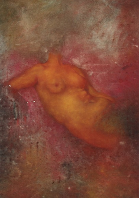 """Torso"" 1994 (pastel on paper, 41 x 30"") Private collection."