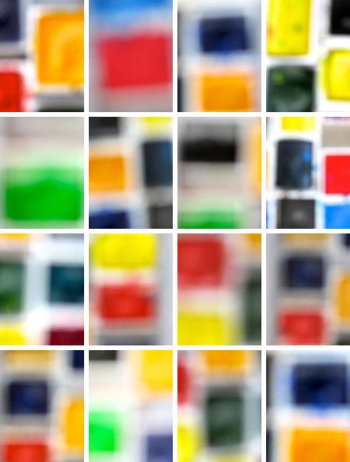 """Watercolors Mix 2"" 2014 (archival pigment print, 43 x 34"")"