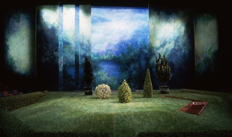 """Set and prop design for Marivaux's """"The Triumph of Love"""""""