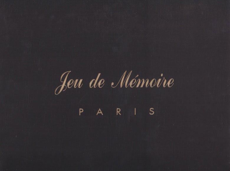 """<em>Jeu de Mémoire Paris</em> (""""Memory Game"""") 1994"""