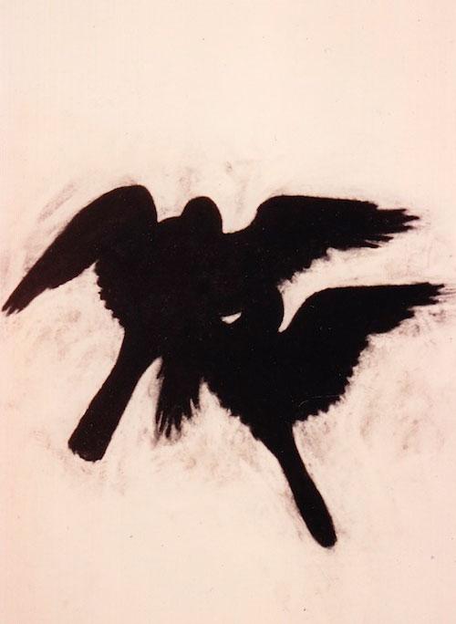 """Birds"" 1994 (pastel on paper, 41 x 30"")"