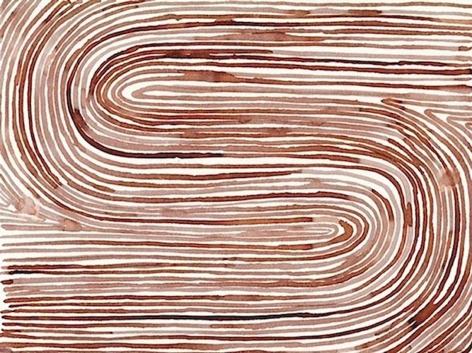 """Field"" 2012 (ink on paper, 22 x 30"")"