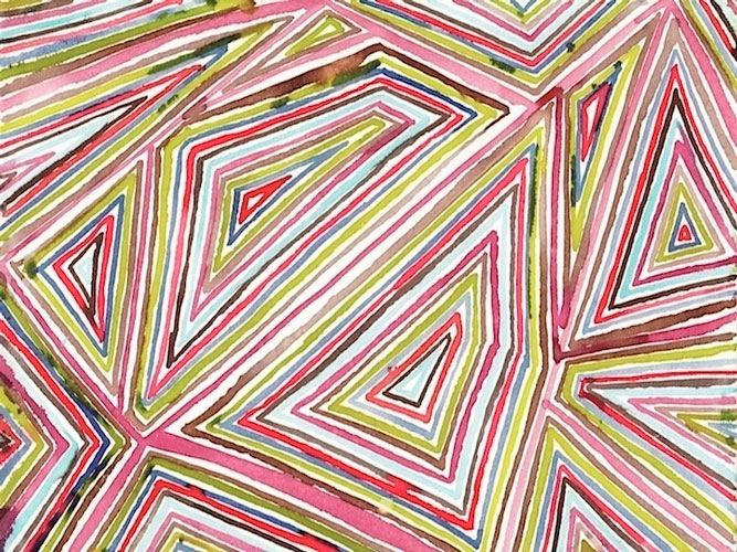 """""""Triangle"""" 2012 (ink on paper, 22 x 30"""")"""