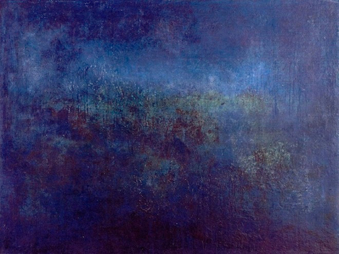 """Blue Night"" 1992 (oil on linen, 30 x 40"") Private collection."