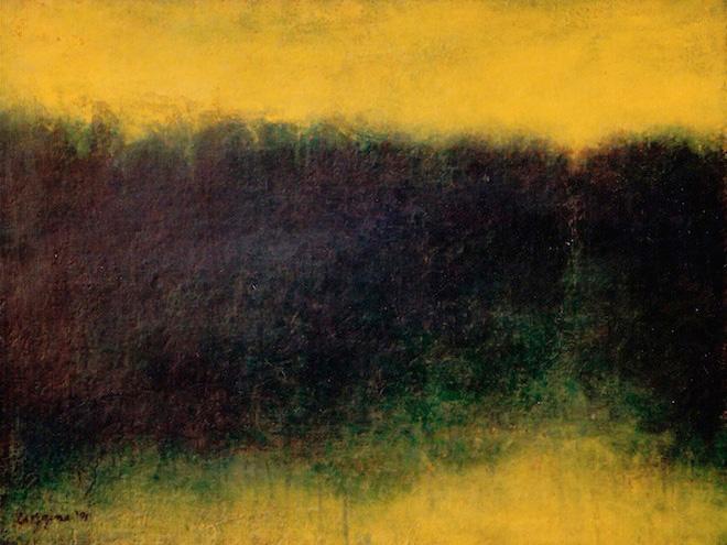 """""""Memory of Summer"""" 1991 (oil on linen, 22 x 30"""")"""